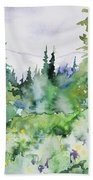 Watercolor - Summer In The Rockies Beach Towel