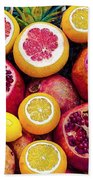 Watercolor Superfood Combo Beach Towel by Celestial Images