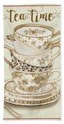 Watercolor Teacups-e Beach Towel