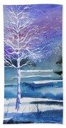 Watercolor - Winter Aspen Beach Sheet