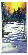 Watercolor3538 Beach Towel