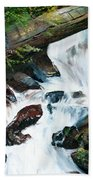 Waterfall 1 Beach Towel