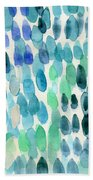 Waterfall 2- Abstract Art By Linda Woods Beach Towel