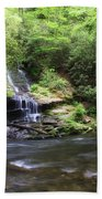 Waterfall And Mountain Creek Beach Towel
