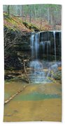 Waterfall At Don Robinson State Park 1 Beach Towel