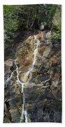 Waterfall At Lake Willoughby  Beach Towel