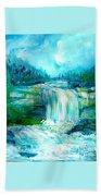 Waterfall At Pont Espagna Beach Towel