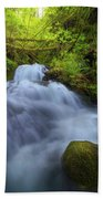 Waterfall At Shepperds Dell Falls Beach Towel