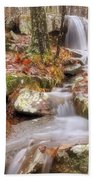 Waterfall Atop Petit Jean Mountain - Arkansas - Nature Beach Towel