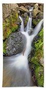 Waterfall Atop Wolf Creek Pass - Colorado - Nature Beach Towel