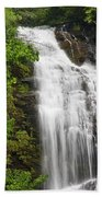 Waterfall Closeup Beach Towel