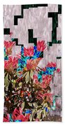 Waterfall Flowers 2 Beach Towel
