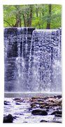 Waterfall In Gladwyne Beach Towel