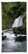 Waterfall In La Fortuna Beach Towel