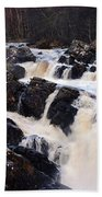 Waterfall In Scotland Beach Towel