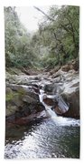 Waterfall In The Forest Beach Towel