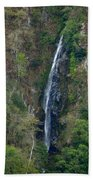Waterfall In The Intag 2 Beach Towel