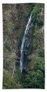 Waterfall In The Intag 3 Beach Towel