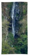 Waterfall In The Intag 6 Beach Towel