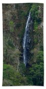 Waterfall In The Intag Beach Towel