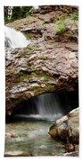 Waterfall Into A Cave Beach Sheet