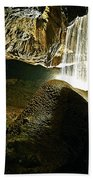 Waterfall Of The Caverns Beach Towel