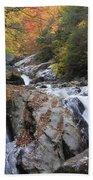 Waterfall Off Blue Ridge Parkway Beach Towel