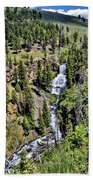 Waterfall On Lava Creek 1 Beach Towel