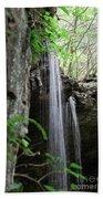 Waterfall Portrait Beach Towel