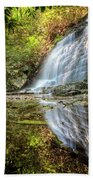 Waterfall Reflections Beach Towel