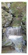 Waterfall Rocks Foliage Pond 2 9132017 Beach Towel