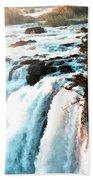 Waterfall Scene For Mia Parker - Sutcliffe L B Beach Towel