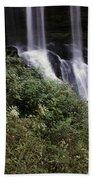 Waterfall Wildflowers Beach Towel