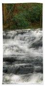 Waterfall03 Beach Towel