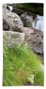 Waterfalls And Bluebells Beach Towel