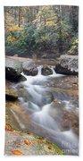 Waterfalls At Roaring River Stone Mountain Beach Towel
