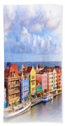 Waterfront Houses Beach Towel