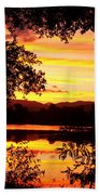 Waterfront Spectacular Sunset Beach Towel