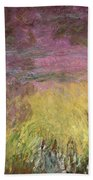 Waterlilies At Sunset Beach Towel