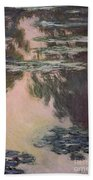 Waterlilies With Weeping Willows Beach Towel