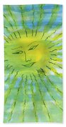 Watery Sunshine Beach Towel