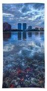 Watery Treasure Beach Towel by Debra and Dave Vanderlaan