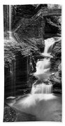 Watkins Glen Rainbow Falls #2 Beach Towel