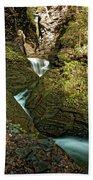 Watkins Glen Waterfall Beach Towel