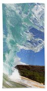 Wave Breaking Beach Towel