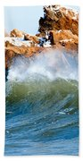 Wave Mirrors Rock Beach Towel