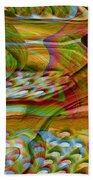 Waves And Patterns Beach Towel