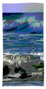 Waves Of Delight Beach Towel