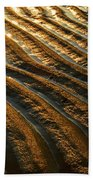 Waves Of Gold Beach Towel