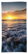 Waves Of The Sunset Beach Towel